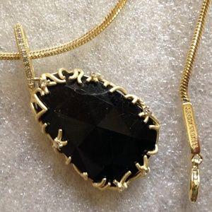 Kendra Scott Jewelry - KENDRA SCOTT - Gold Wrapped Black Pendant - EUC